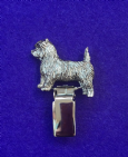 Dog Show Breed Ring Number Clip - Cairn Terrier - FULL BODY Silver or Gold Style